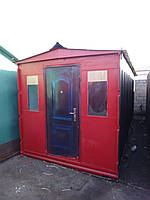 Блок-контейнер с двумя окнами, перегородкой, внутренней отделкой