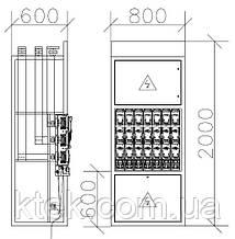 Панель розподільна ЩО-70 (ЩО-90) c блок-рубильниками типу ARS