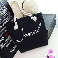 Черная пляжная женская сумка Jamel