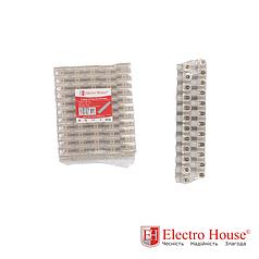 ElectroHouse Клеммная колодка 6A-6mm2 ПЭ EH-CPE-0002