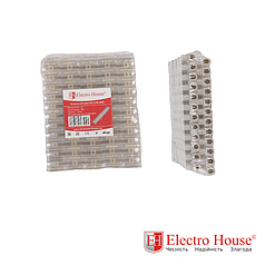 ElectroHouse Клеммная колодка 10A-10mm2 ПЭ EH-CPE-0003