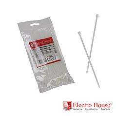 ElectroHouse Стяжка кабельная белая 3x100 EH-K-001
