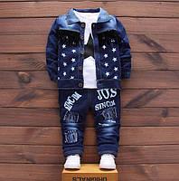 Детский джинсовый костюм.