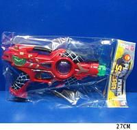 """Пистолет муз XY03-1 (S+1+1+2) """"Спайдермен"""" на батарейках"""