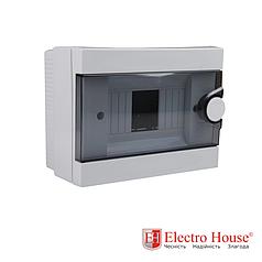 Бокс монтажный накладной на 6 автоматов пластиковый ElectroHouse