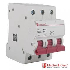 Автоматический выключатель 3 Р 6 А ElectroHouse