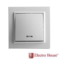 Выключатель с подсветкой белый Enzo ElectroHouse