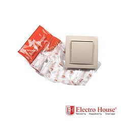 Выключатель бежевый латте Enzo ElectroHouse