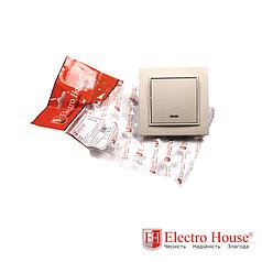 Выключатель с подсветкой бежевый латте Enzo ElectroHouse