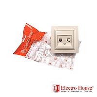 ElectroHouse Розетка телефонная латте Enzo EH-2195