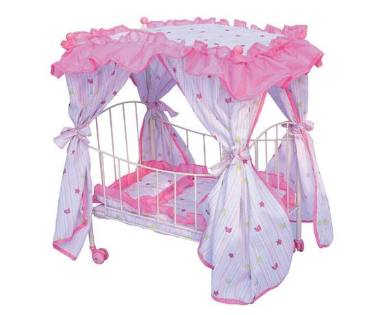 Кровать для кукол с балдахином
