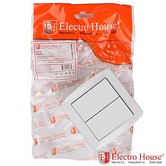Накладной выключатель двойной Accura ElectroHouse