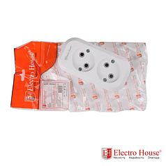 ElectroHouse Колодка 2 гнезда без заземления