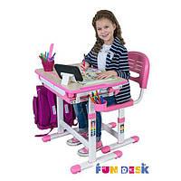 Детская парта-растишка со стульчиком FunDesk Bambino Grey