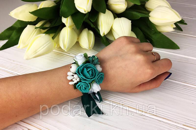 Браслет бутоньерка цветок