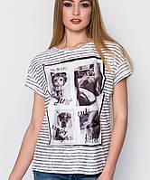 Женская футболка с животными (5083 sk)