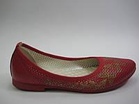 Кожаные балетки красного цвета ТМ Max Mayar