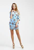 Женское платье из ситца Сильвия, голубой