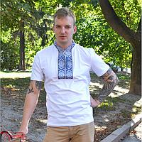 Футболка чоловіча L біл. Парубоцька (син-голуба виш.)