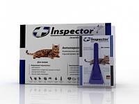 Капли Inspector от 14 внеш. и внутр. паразитов для кошек до 4 кг