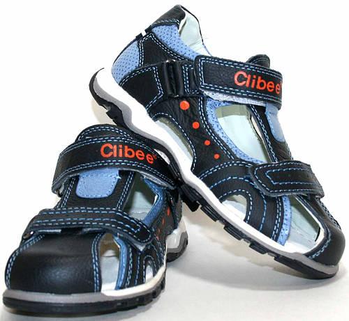 Детские кожаные босоножки для мальчика Clibee Польша размеры 31-36