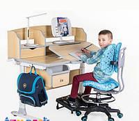 Детский стол-трансформер для дома FunDesk Sognare Grey + лампа LC1
