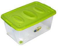 """Пластиковый контейнер универсальный """"Астело"""" на колесиках"""