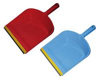Совок для сміття з гумовою насадкою, колір асорті