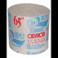 Папір туалетний макулатурний Обухов 65, без гільзи, сірий(тп.об65с)