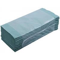 Рушники паперові макулатурні Z-подібні.,160шт., зелені