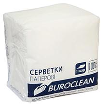 Серветки пап. BuroClean, 240*240, 400шт., в пп упак., білий