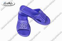 Женские шлепки фиолетовые (Код: ПЖ-06)