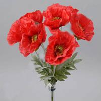 Букет Красных маков 47 см Цветы искусственные