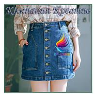 Джинсовые юбки короткие (от 50 шт.)