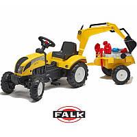 Детский трактор на педалях с прицепом и ковшом  Falk 2055N