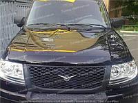 Дефлектор УАЗ Патриот (мухобойка на капот UAZ Patriot)