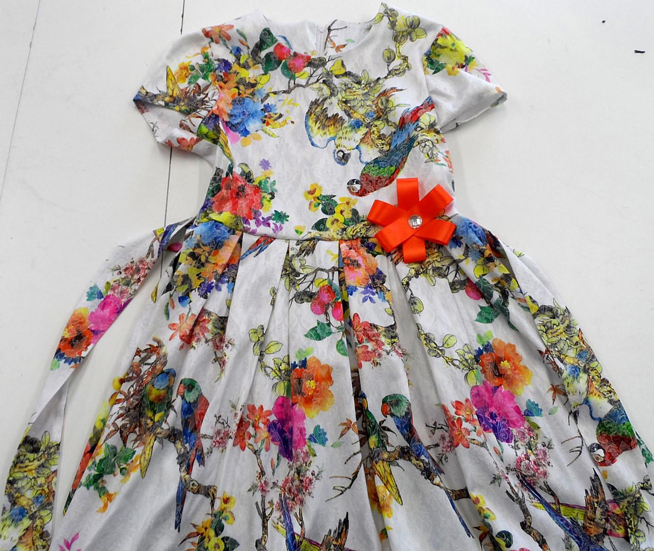 Платье попугай 122-152