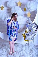 Шелковое женское платье кимоно