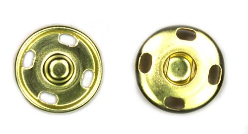 Кнопка пришивная D12 мм металл (золото)