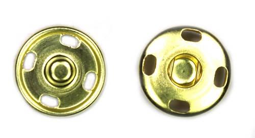 Кнопка пришивная D12 мм металл (золото), фото 2