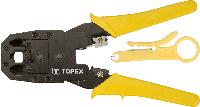 Клещи topex 32d409 для обжима телефонных и компьютерных наконечников 4p 6p 8p