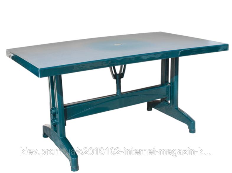 Стол прямоугольный пластиковый Irak Plastik 80x140 зеленый