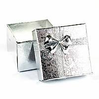 Подарочная коробочка под кольцо 4 x 4 x 3 см серебро