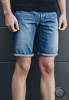 Мужские джинсовые шорты (с подкатом) Staff - col.5 Art. 7477-1 (светло-синий)