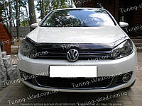 Дефлектор Фольксваген Гольф 6 (мухобойка на капот Volkswagen Golf Mk6)