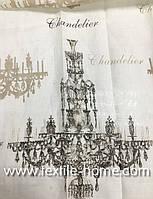 Натуральная ткань для штор Лен с рисунком