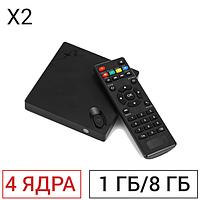 ТВ-приставка Beelink X2 (1/8 ГБ) 4-ядерная на Android 4.4.2