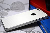 """Виниловая наклейка """"Белый карбон"""" Iphone 5/5S/5SE (задняя часть) 0,12 mm"""