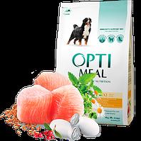 Корм для собак OptiMeal для крупных пород с курицей 4 кг