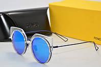 Солнцезащитные очки круглые Fendi голубые